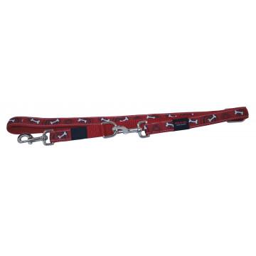 Поводок-Перестёжка MATIS-PET 2,0 см MD красный,косточка (Матис Пет)