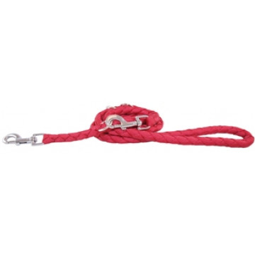 Перестежка для собак плетёная круглая MATIS-PET 1,5 см красная (Матис Пет)