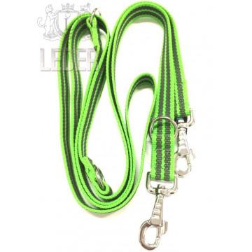 Поводок-перестёжка для собак с латексом Onega 25мм 2,5м Зелёный (прорезиненная)