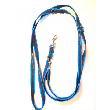 Поводок-перестёжка для собак с латексом Onega 20мм 2,5м Голубой (прорезиненная)