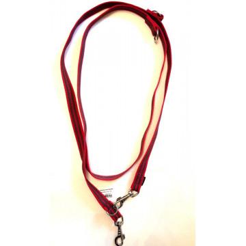 Поводок-перестёжка для собак с латексом Onega 25мм 2,5м Красный (прорезиненная)