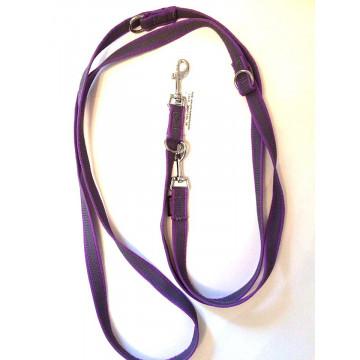 Поводок-перестёжка для собак с латексом Onega 20мм 2,5м Фиолетовый (прорезиненная)