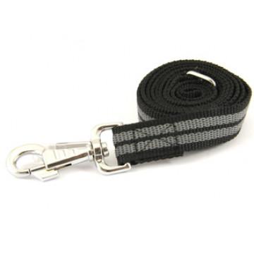 Поводок для собак нейлон с латексом Onega 25мм 5м Чёрный (прорезиненный)