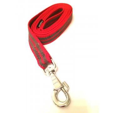 Поводок для собак нейлон с латексом Onega 25мм*1,5*2*3*5м Красный(прорезиненный)