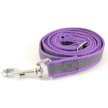 Поводок для собак нейлон с латексом Onega 20мм 1,5м Фиолетовый (прорезиненный)