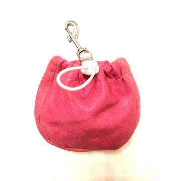 Сумочка для лакомств для собак Onega на карабине Розовая