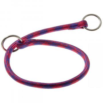 Ошейник-удавка для собак круглый нейлон 8мм Арлекин розово-фиолетовый