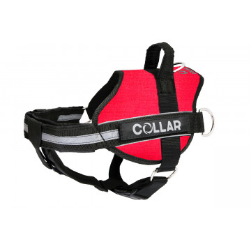 Шлейка для собак Collar Police N4 c боковыми кольцами и фонариком