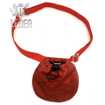 Сумочка для лакомств для собак Onega на ремне Красная