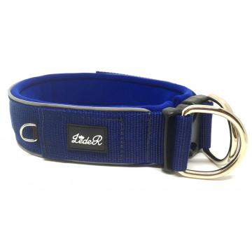 Ошейник для собак с неопреновой подкладкой 4,5см Синий