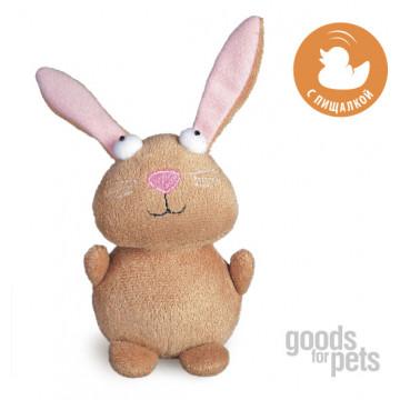 Игрушка для собак ГиГви Кролик С Пищалкой 16 см