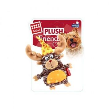 Игрушка для собак ГиГви Лось в Колпаке с Пищалкой 15,5 см