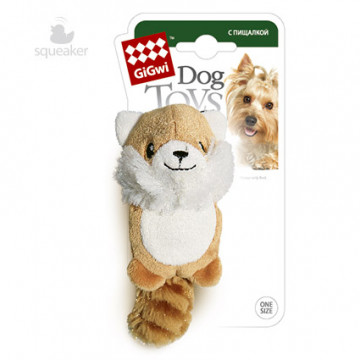 Игрушка для собак ГиГви Лисичка С Пищалкой 10 см