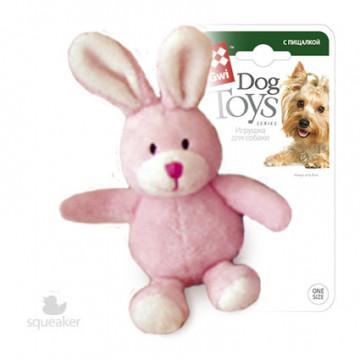 Игрушка для собак ГиГви Зайчик с Лапками с Пищалкой 11 см