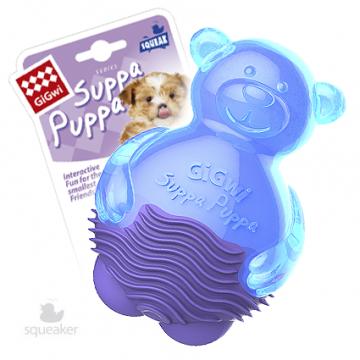 Игрушка для собак ГиГви SUPPA PUPPA Мишка С Пищалкой 10 см
