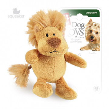 Игрушка для собак ГиГви Лев С Лапками С Пищалкой 10 см