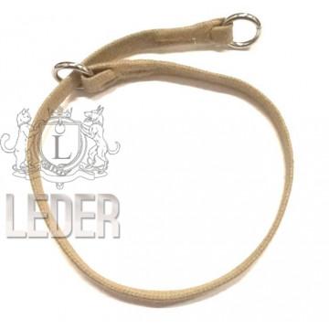 Удавка для собак Onega хлопок 10 мм 45-60 см Бежевая