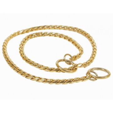 Цепочка Кобра для собак 5,0мм * 50см Золото
