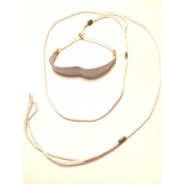 Ринговка для собак Onega Круглая с Расширителем нейлон 3мм Белая