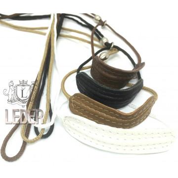 Ринговка для собак круглая нейлоновая с кожаным расширителем 3мм