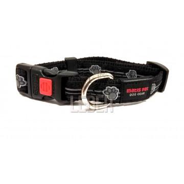 Ошейник для собак MATIS-PET ширина-1,5см Чёрный, лапки