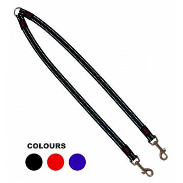 Сворка для двух собак нейлон Matis-Pet 20мм 60см чёрная