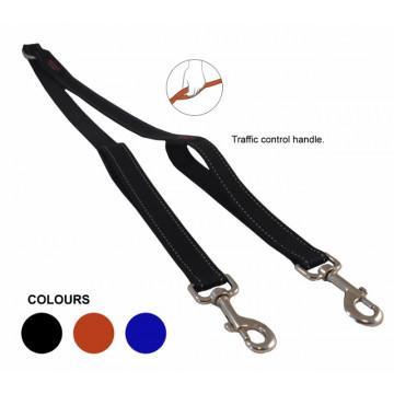 Сворка для двух собак нейлон Matis-Pet 25мм 60см чёрная