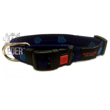Ошейник для собак MATIS-PET 2,0 см MD синий, лапки (Матис Пет)
