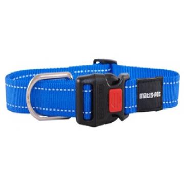 Ошейник для крупных собак MATIS-PET 4,0 см CS овальное кольцо синий (Матис Пет)