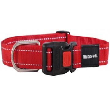 Ошейник для крупных собак MATIS-PET 4,0 см CS овальное кольцо красный (Матис Пет)