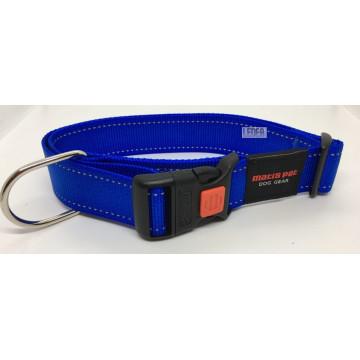 Ошейник для крупных собак MATIS-PET Широкий овальное кольцо Синий