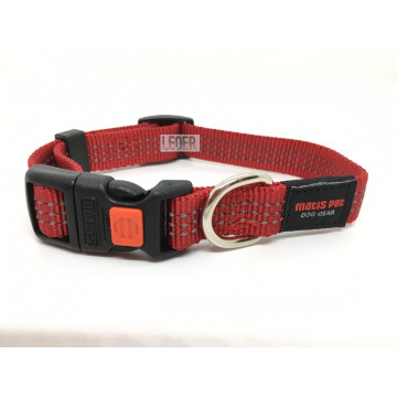 Ошейник для собак MATIS-PET ширина-2,0см Красный (Матис Пет)