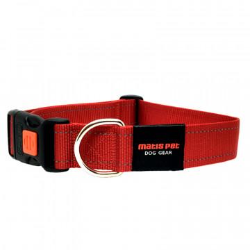 Ошейник для крупных собак MATIS-PET 4,0 см CS круглое кольцо красный (Матис Пет)