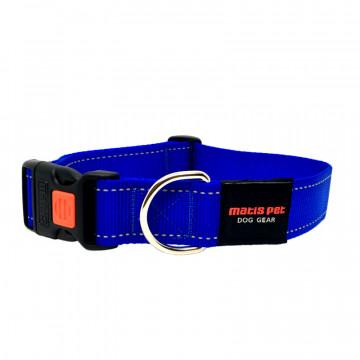Ошейник для крупных собак MATIS-PET 4,0 см CS круглое кольцо синий (Матис Пет)