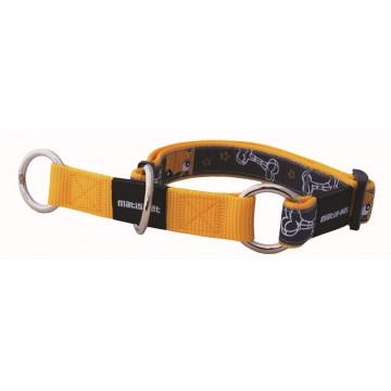 Полуудавка для собак нейлон MATIS-PET 2,5 см MD жёлтый, собачки (Матис Пет)