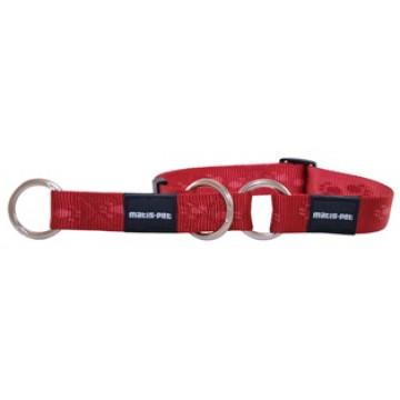 Полуудавка для собак нейлон MATIS-PET 1,5 см DP красная (Матис Пет)