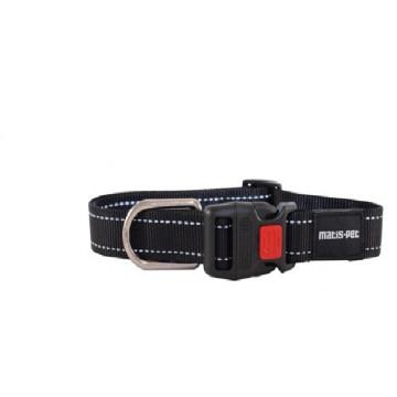 Ошейник для крупных собак MATIS-PET 4,0 см CS овальное кольцо чёрный (Матис Пет)