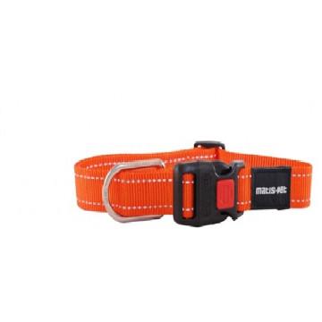 Ошейник для крупных собак MATIS-PET 4,0 см CS овальное кольцо оранжевый (Матис Пет)