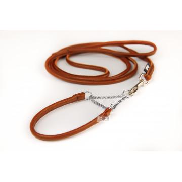 Круглая полуудавка+Поводок для собак (КОМПЛЕКТ Круглого сечения) 5мм LEDER
