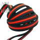 Поводок для собак нейлон с латексом (прорезиненный) Чёрно-Неоново-Красный 20мм*1,5-5м