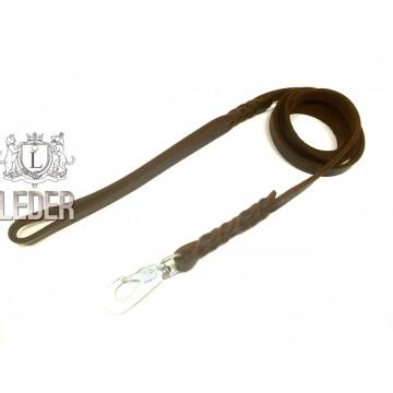 Поводок для собак кожаный сыромятный 16мм*150*225см ONEGA