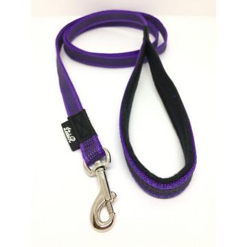 Поводок для собак нейлон с латексом (прорезиненный) ФИОЛЕТОВЫЙ 15мм*1,5-5м