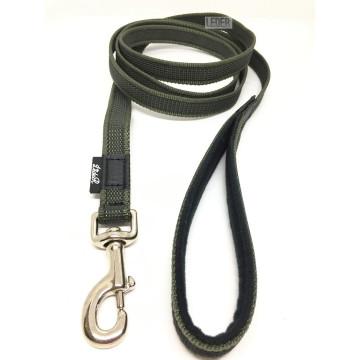 Поводок для собак нейлон с латексом (прорезиненный) ХАКИ 20мм*1-10м