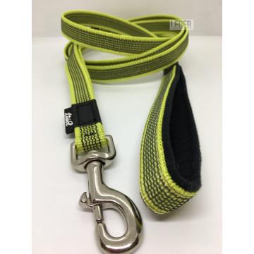 Поводок для собак нейлон с латексом (прорезиненный) ЛАЙМ 20мм*1-10м