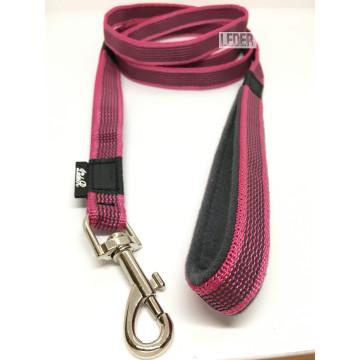 Поводок для собак нейлон с латексом (прорезиненный) МАЛИНОВЫЙ 20мм*1-10м