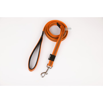 Поводок для собак нейлон с латексом (прорезиненный) Апельсиновый 20мм*1-10м