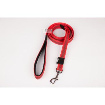 Поводок для собак нейлон с латексом (прорезиненный) Красный 20мм*1-10м