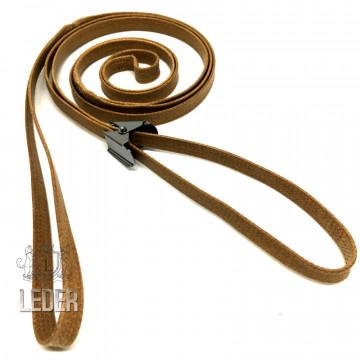 Ринговка для собак Onega хлопок с крабиком 10мм рыжая