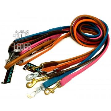 Поводок для собак КРУГЛЫЙ кожаный 6мм*150см ONEGA