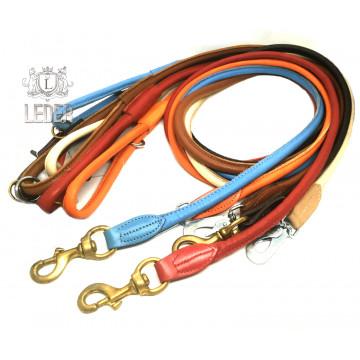 Поводок для собак КРУГЛЫЙ кожаный 8мм*150см ONEGA